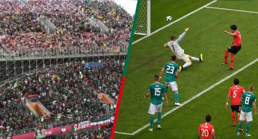 Así gritaron los mexicanos el gol de Corea en el Arena Ekaterimburgo