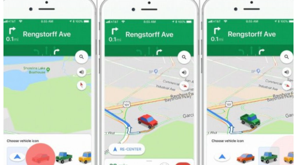 Google Maps cambia su indicador por carritos para guiarte