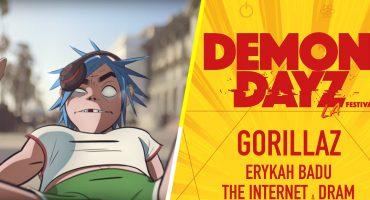 El Demon Dayz Festival 2018 de Gorillaz anunció el line up para su segunda edición