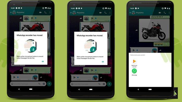WhasApp elimina la grabadora de voz pero no todo está perdido
