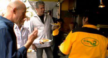 Recordemos el día que Anthony Bourdain vino a México a comer tacos de El Huequito