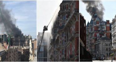 Se incendia en Londres el lujoso hotel, Mandarin Oriental