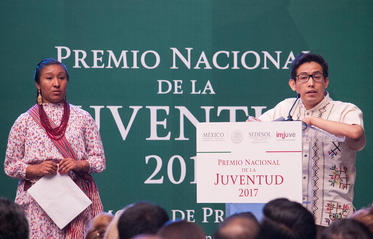 Ricardo como Premio Nacional de la Juventud 2017