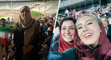 Mujeres iraníes entraron por primera vez a un estadio de futbol