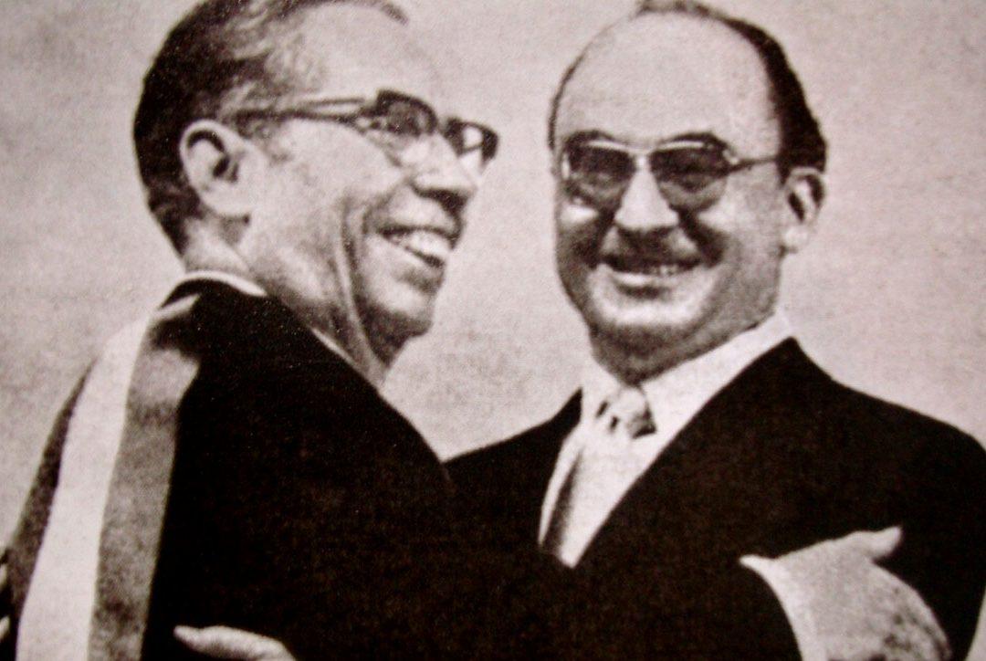 Gustavo Díaz Ordaz y Luis Echeverría