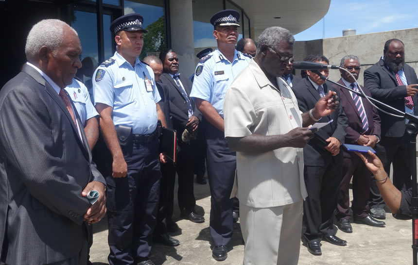 -presidente destituido de Islas Salomón