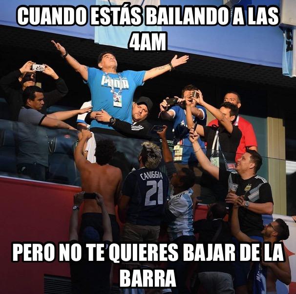 Meme de Maradona