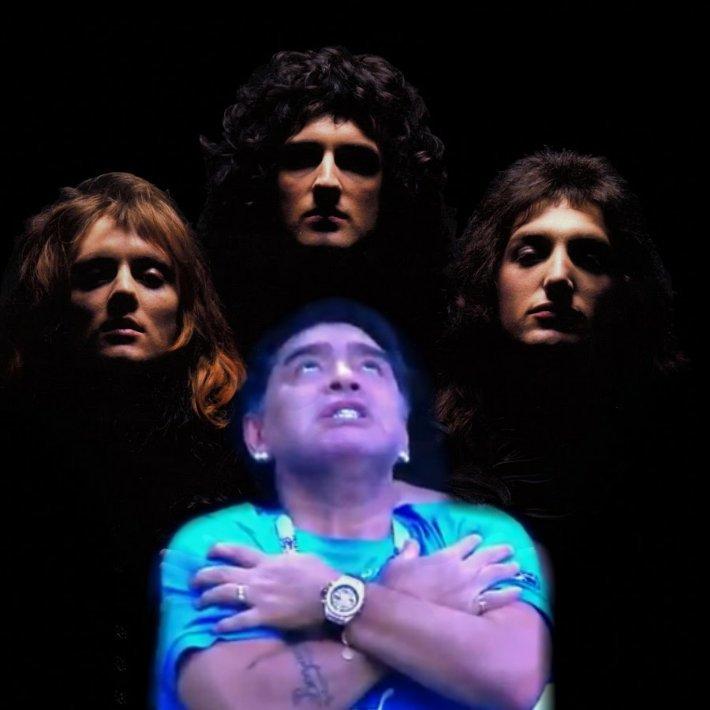 Meme de Maradona - Queen