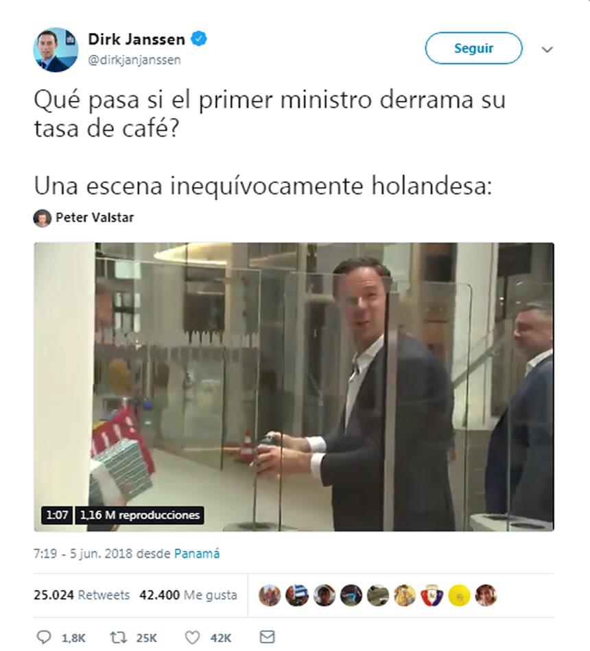 Mark Rutte trapea el Parlamento