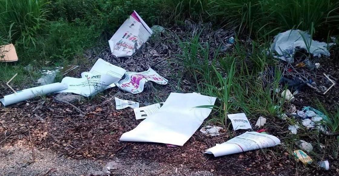 Aparece material electoral en Tabasco, pero sin las boletas