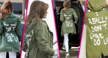 'De verdad no me importa': la chamarra de Melania Trump para visitar a los niños migrantes