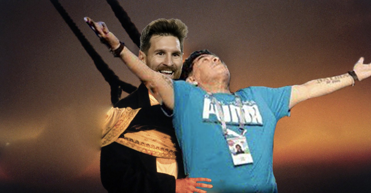 Meme Maradona y Messi