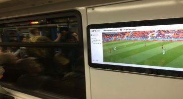 El primer mundo: En el metro de Moscú hay pantallas para ver los partidos de Rusia 2018 😱