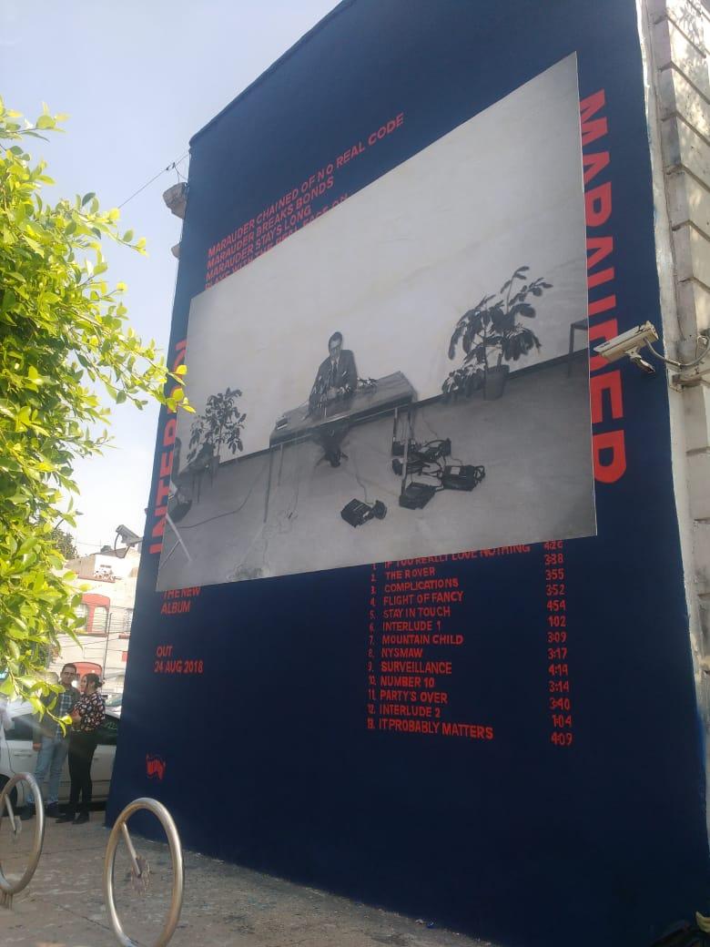 Mural de Interpol en la CDMX
