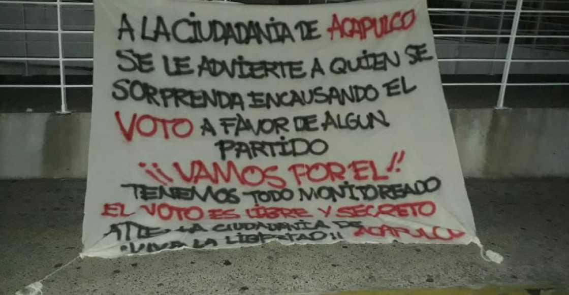 El narco amenaza de muerte a quienes cometan delitos electorales en Acapulco