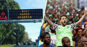 ¡Ver para creer! Las calles de Argentina amanecieron con mensajes de apoyo a Nigeria