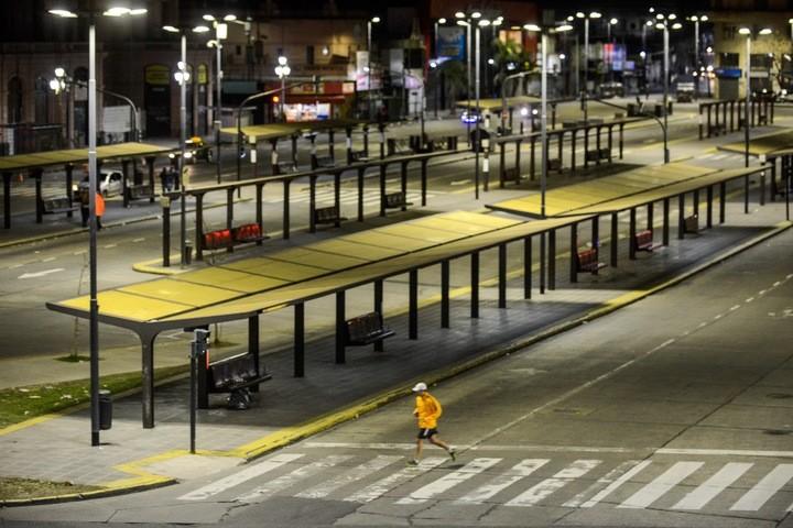 Paro nacional de transporte vista de la estación de Constitución 25/06/18