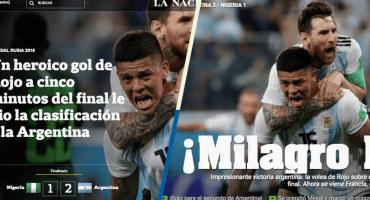La prensa argentina se vuelve loca con Marcos Rojo y el triunfo albiceleste