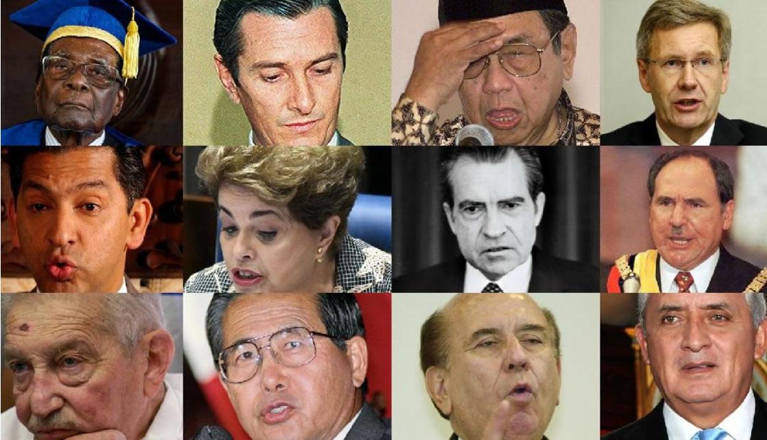 presidentes destituidos en el mundo