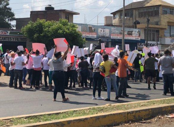 Protesta Ciudad Guzmán contra Marina