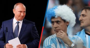 ¡No es tan malo! Putin rescata a dos aficionados argentinos perdidos en Rusia