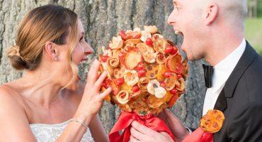 Amantes de la comida: ¡Ya llegaron los ramos de novia hechos de pizza!