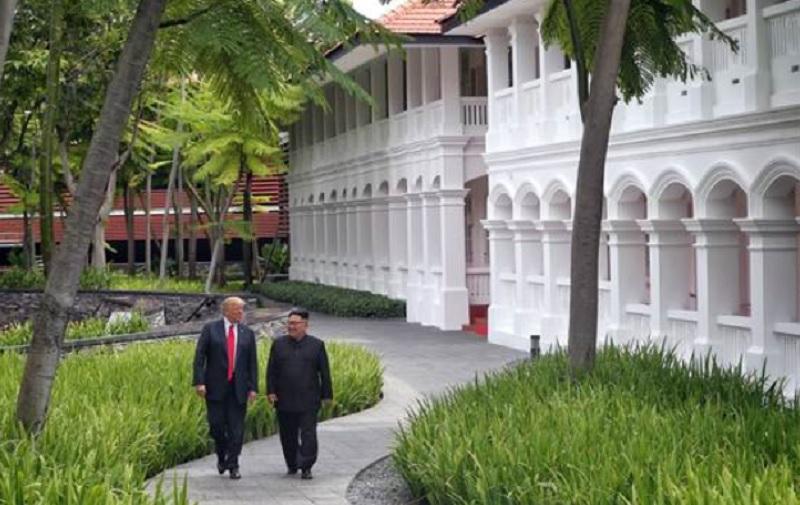 Kim Jong-un y Donald Trump, cumbre de Singapur