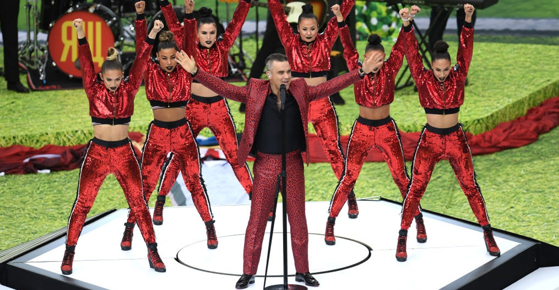 I don't wanna rock, DJ! Así estuvo la presentación de Robbie Williams en Rusia 2018