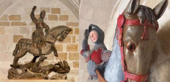 Así la restauración del San Jorge de Estella