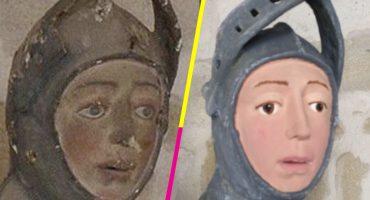 ¿Se acuerdan de la restauración del 'Ecce Homo'? Ya llegó 'San Jorge de Estella'