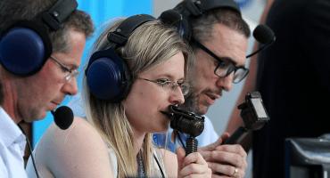 Vicki Sparks, la primera mujer en narrar en vivo en un Mundial, y así cantó el gol de Cristiano