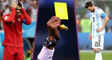 Tarjetas amarillas dejarían varias estrellas suspendidas en Octavos de Final de Rusia 2018