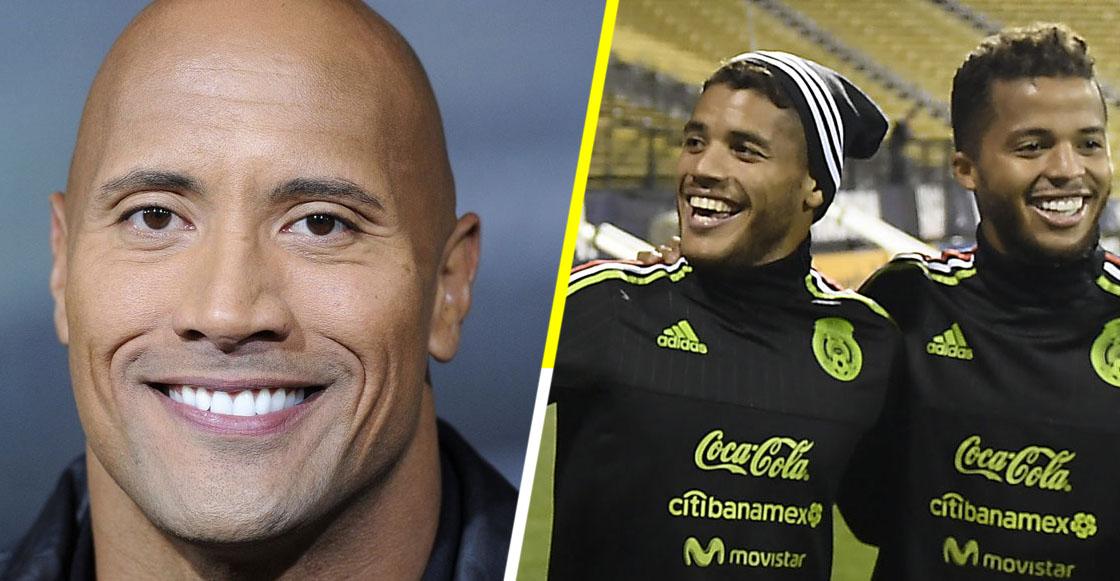 ¡Dwayne, hermano, ya eres mexicano! 'The Rock' felicita a los dos Santos por la victoria contra Alemania
