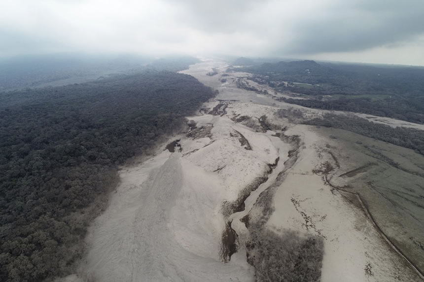 Erupción volcán de Fuego en Guatemala