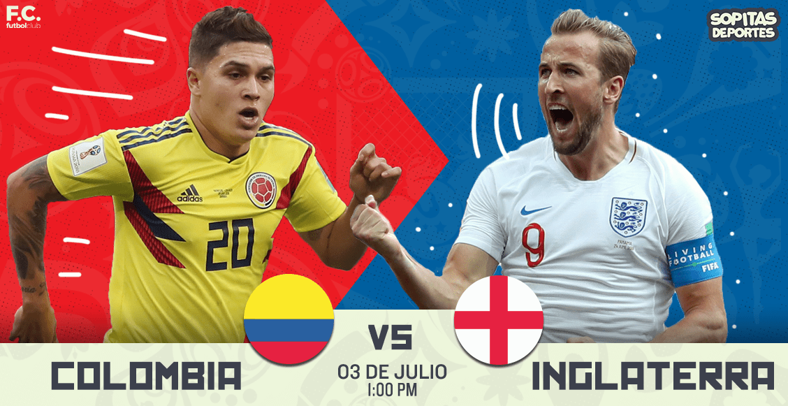 Ver Colombia vs Inglaterra en vivo