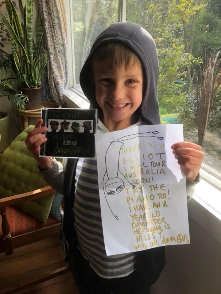 Mira la tierna contestación de Damon Albarn a la carta de este niño ❤