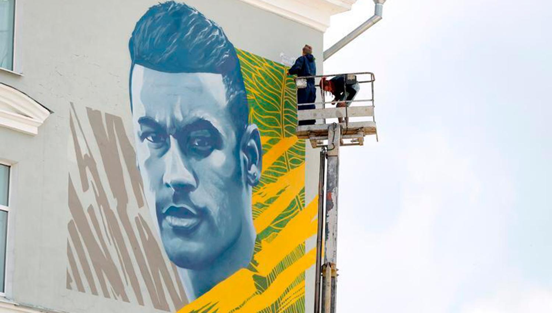 Neymar tendrá su mural al igual que Messi y Cristiano Ronaldo en Kazán