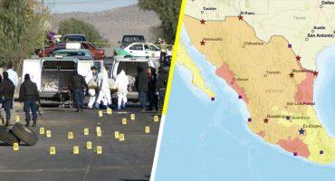 Estados Unidos alerta a sus ciudadanos por 5 entidades de México