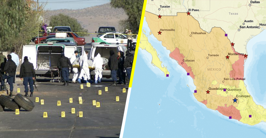 Estados Unidos emite alerta para no viajar a 5 entidades de México