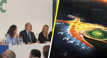 Ahorraríamos mucho si usamos materiales nacionales en el NAIM: Carlos Slim
