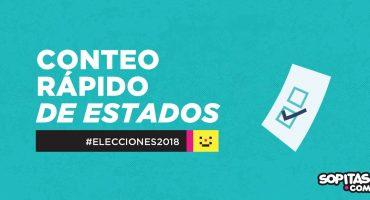 #Elecciones2018: así va el conteo rápido en Puebla, Morelos, Chiapas y Yucatán
