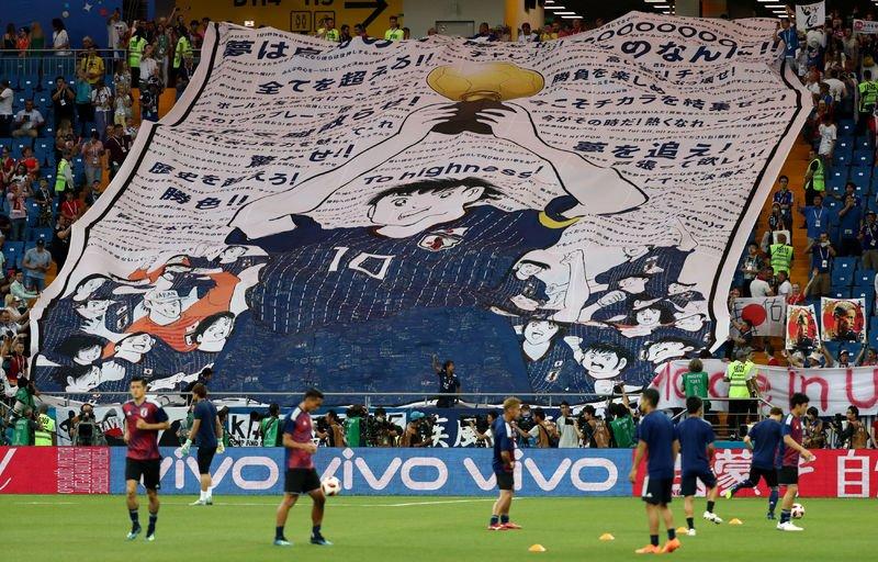 Oliver Atom y los Super Campeones fueron al Estadio a Apoyar a Japón