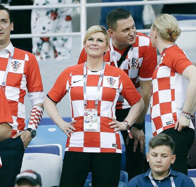 Así fue el festejo de Kolinda Grabar, presidenta de Croacia