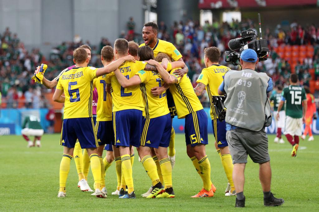Suecia se mide ante Suiza en el partido de Octavos de Final