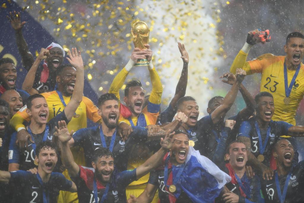 25 fotos de la premiación de Francia Campeón del Mundo en Rusia 2018