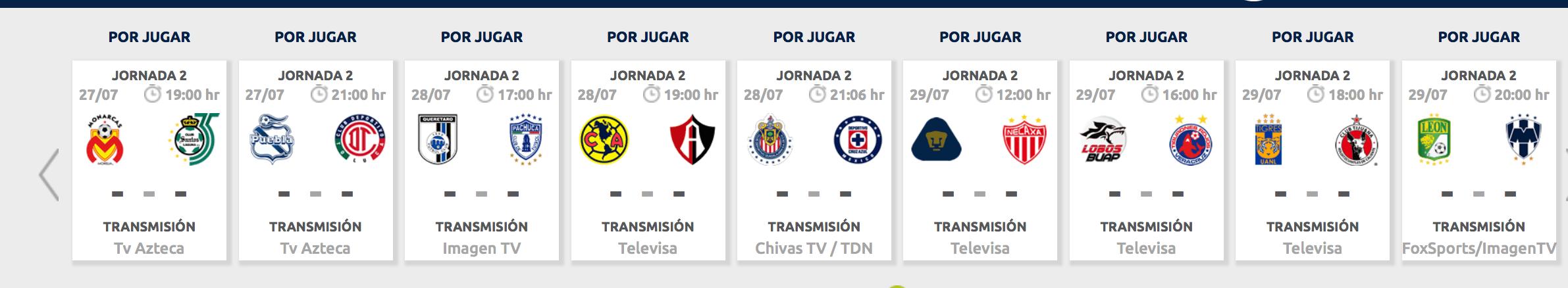 ¿Cómo, cuándo y dónde ver la Jornada 2 de la Liga MX?