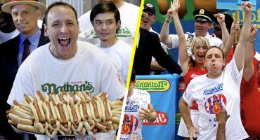 WTF?! Un hombre se engulló 74 hot dogs para ganar un concurso por 11ª vez