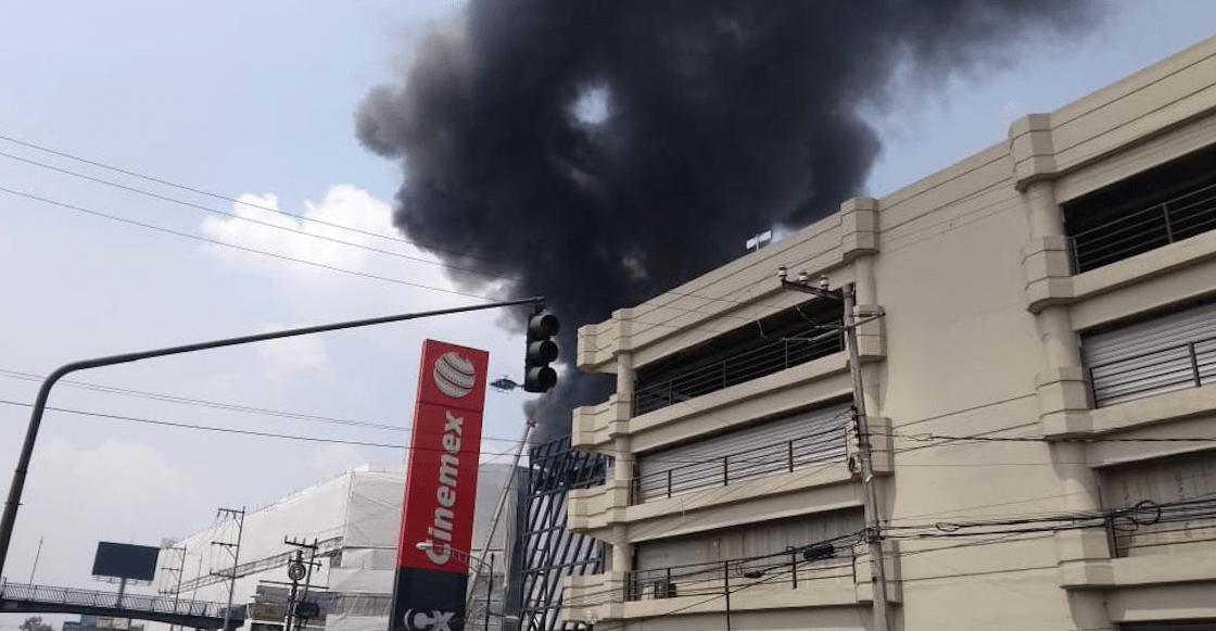 Incendio Galerías Coapa
