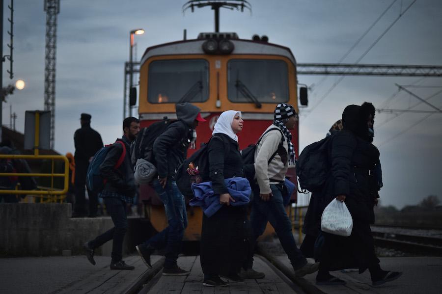 Migrantes llegan a Croacia
