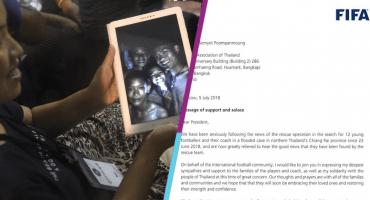 FIFA invita a los niños atrapados en una cueva de Tailandia a la Final del Mundial